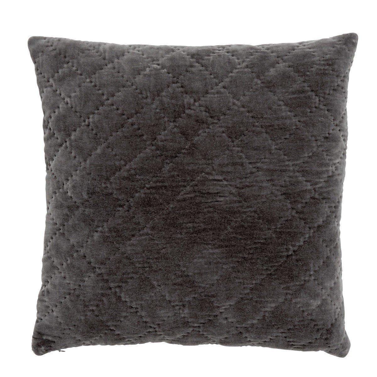 Nordal kussenhoes quilt velvet grijs 50 x 50