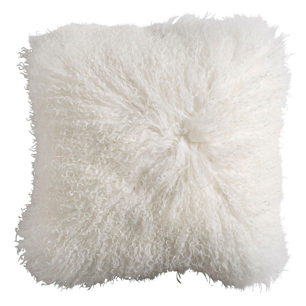 Nordal kussenhoes schapenvacht wit 40 x 40