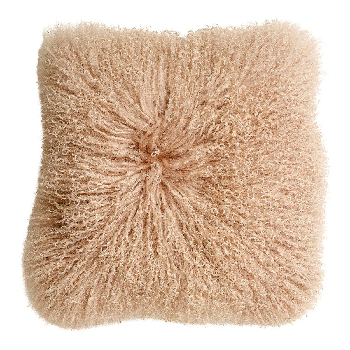 Nordal kussenhoes schapenvacht zacht roze 40 x 40