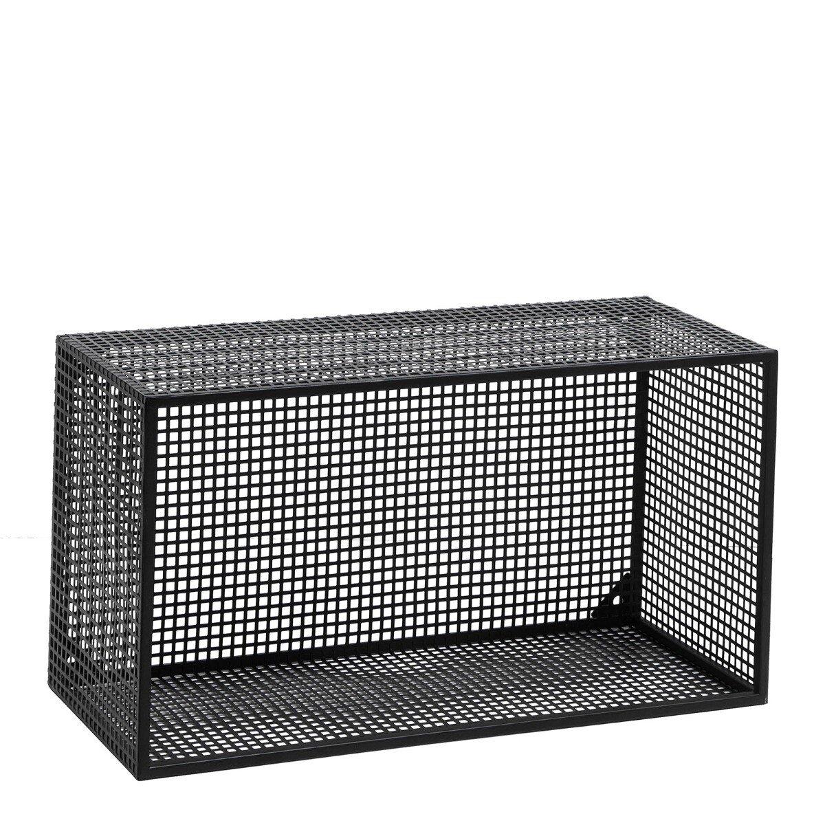 Nordal wandrek wire metaal zwart 32 x 60 x 25