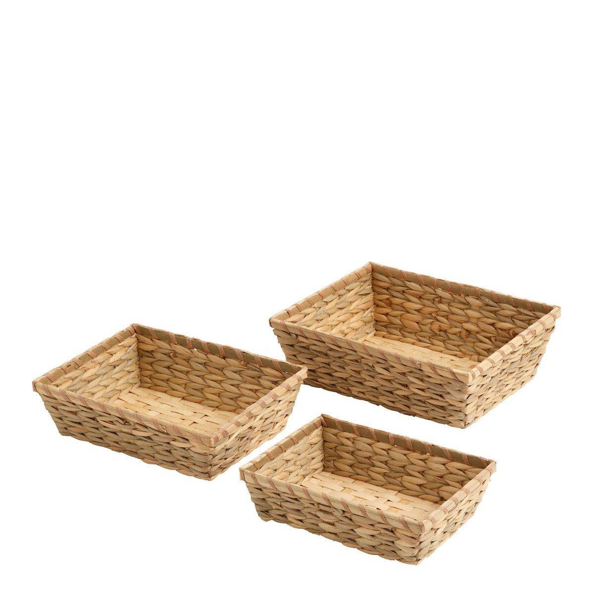 Nordal Opbergmand Grape Set Bamboe 10 x 26 x 33