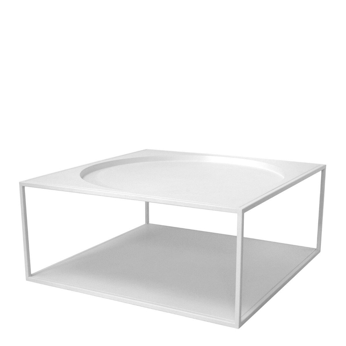 HKliving salontafel staal wit 30x69x69cm
