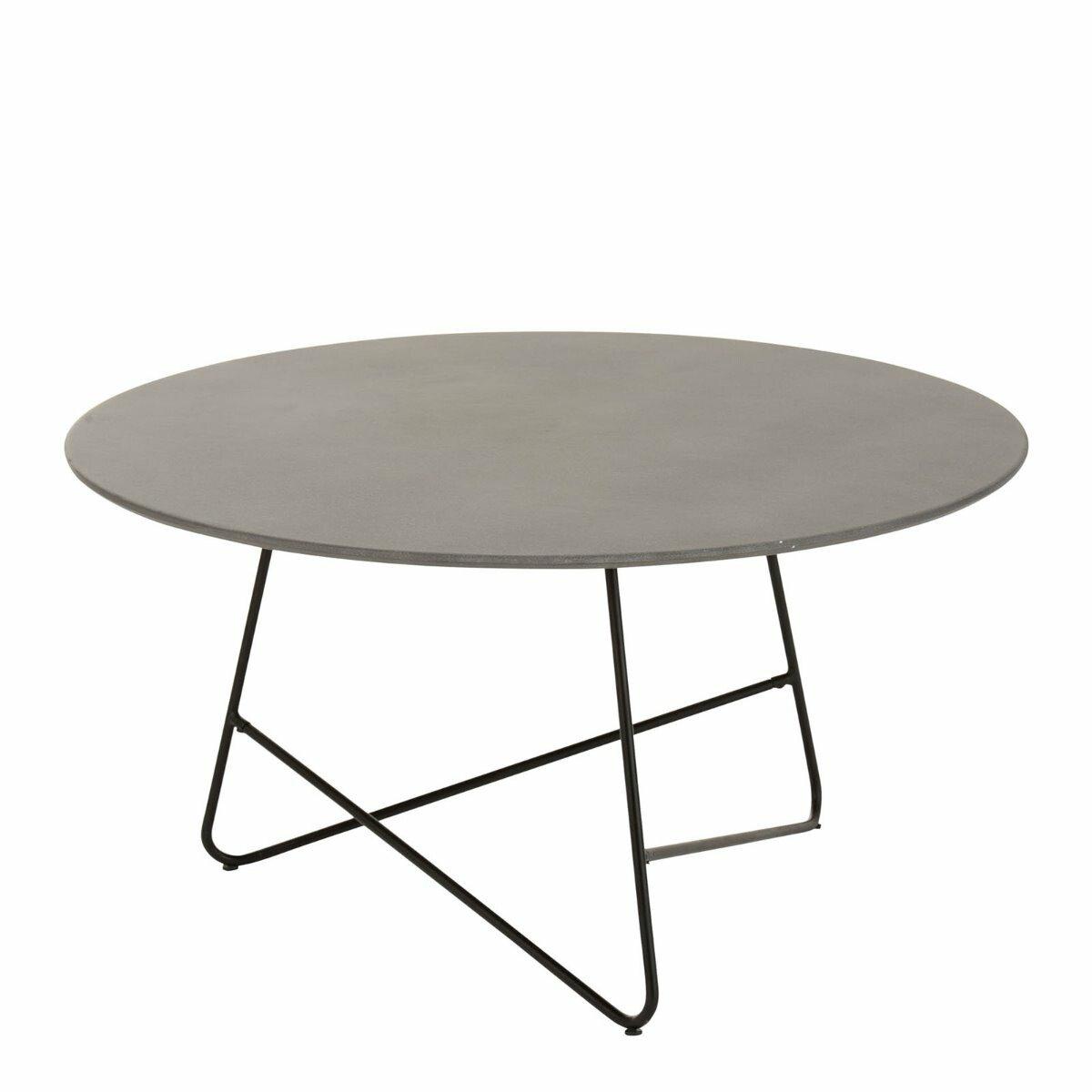 J-Line salontafel valou cement staal grijs zwart 45 x 90 x 90