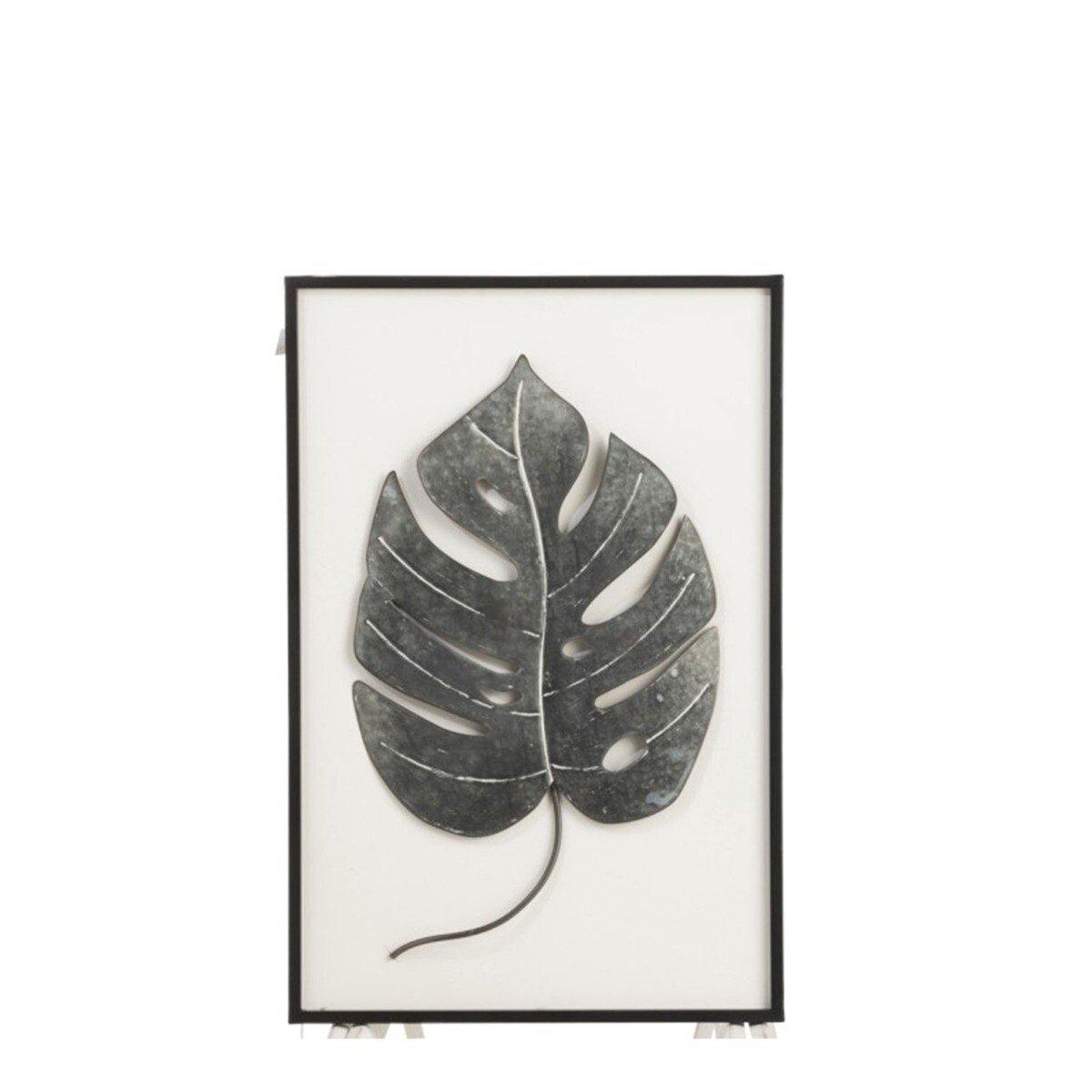 J-Line schilderij blad 76 x 50 x 6