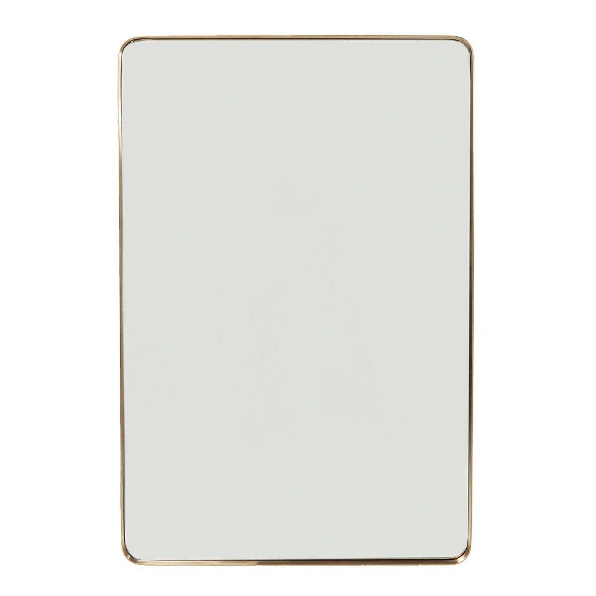 Kare Design spiegel curve rectangular brass 120 x 80 x 5