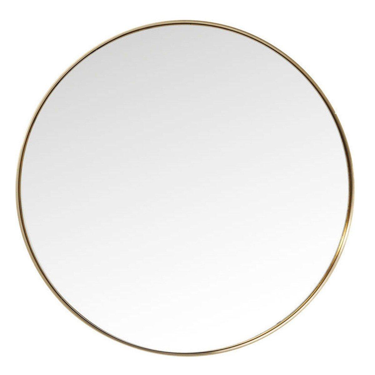 Kare Design spiegel curve rond messing �100