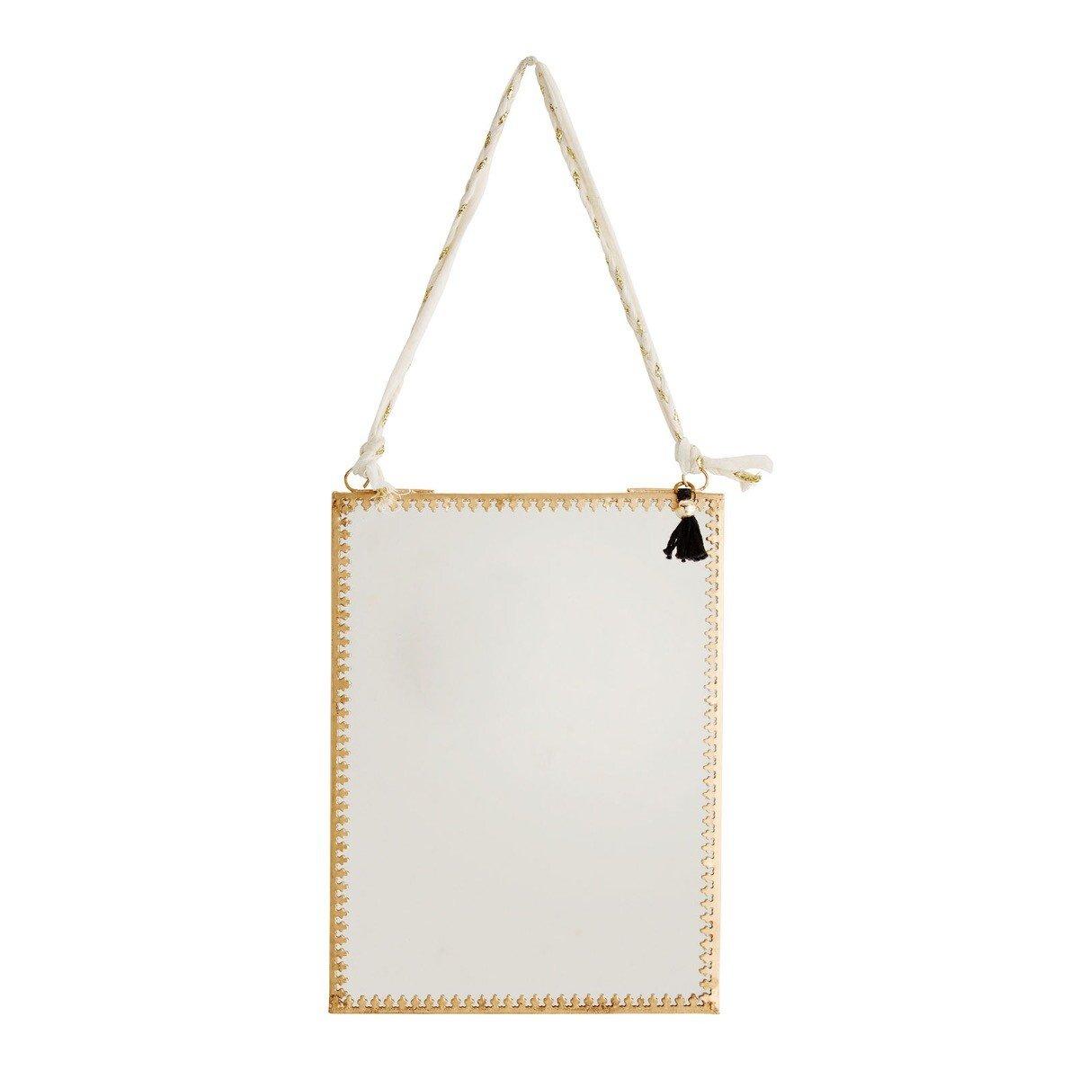Madam Stoltz spiegel hangend ijzer goud 20 x 15