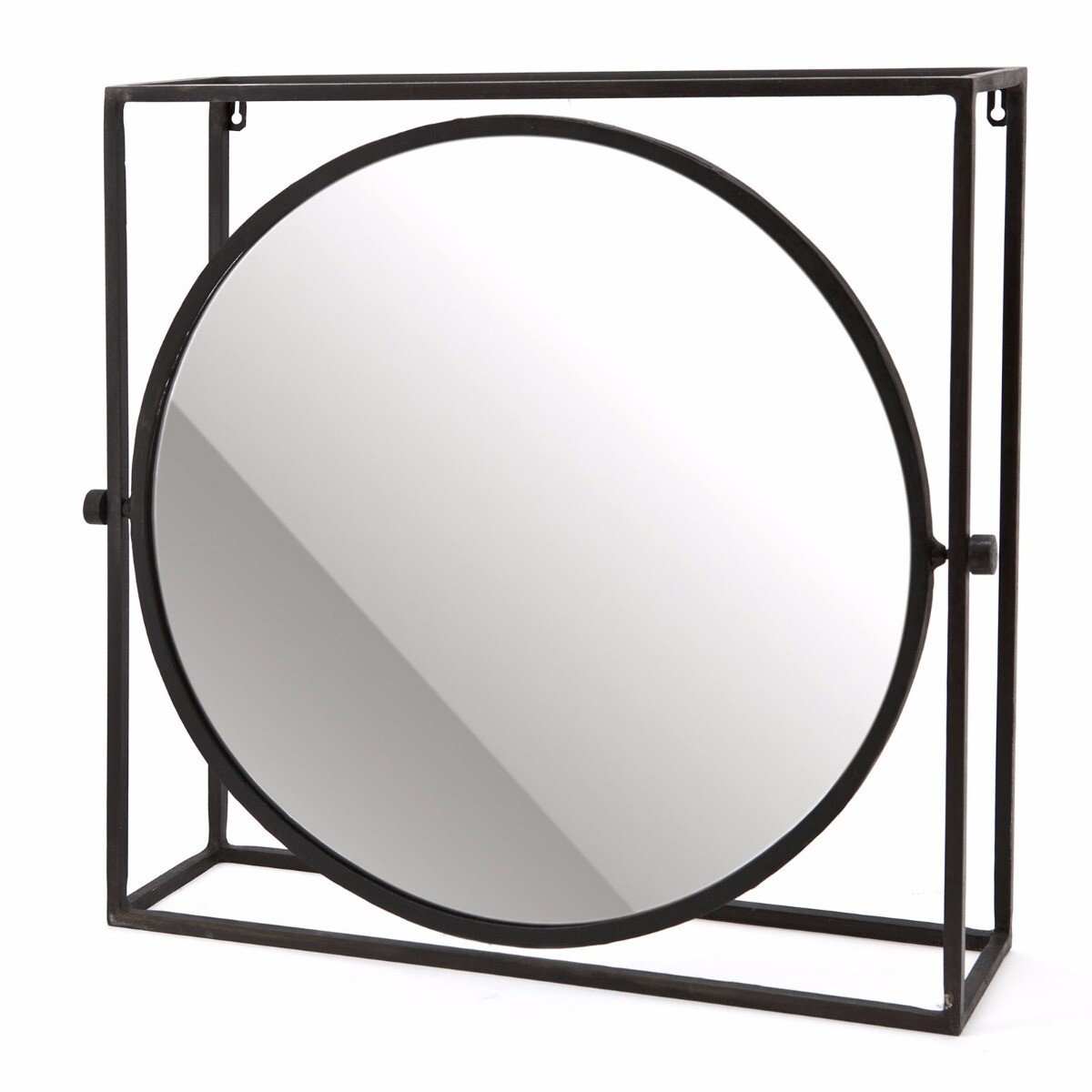 By Boo spiegel in frame rond 50x52x13cm