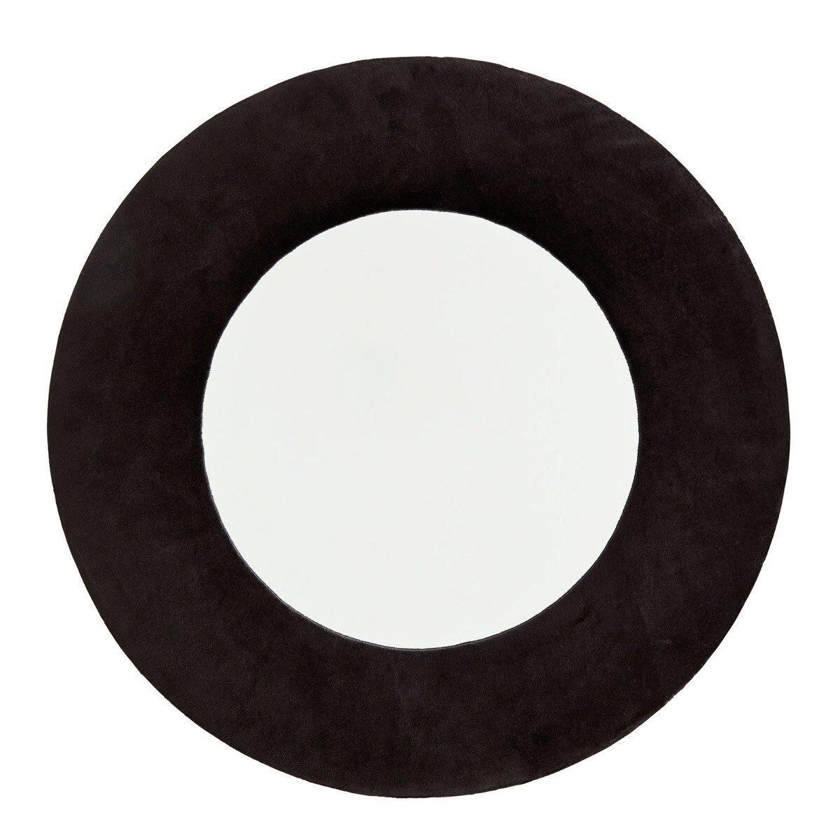 Madam Stoltz spiegel rond velvet zwart � 50