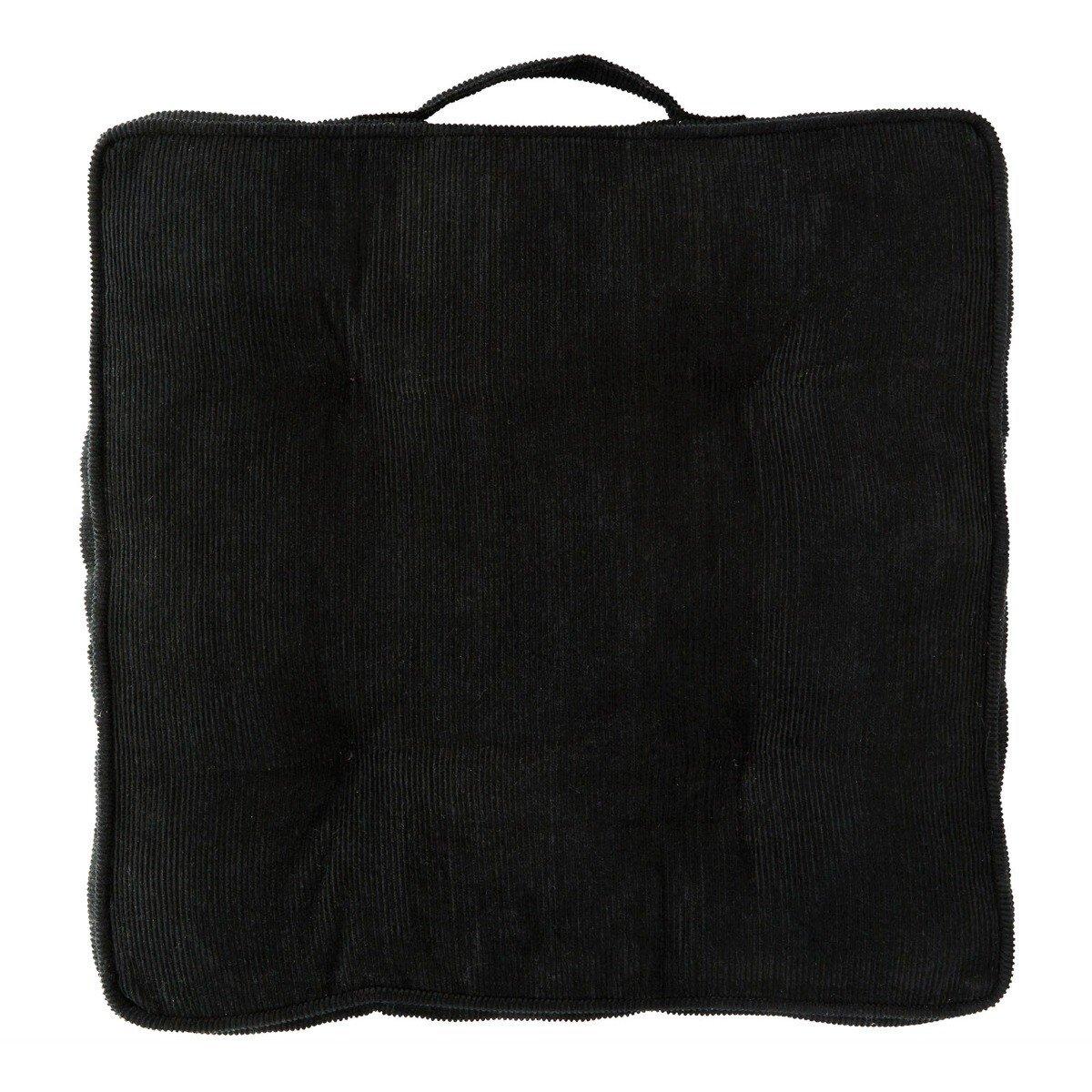 Madam Stoltz stoelkussen Corduroy zwart 40 x 40