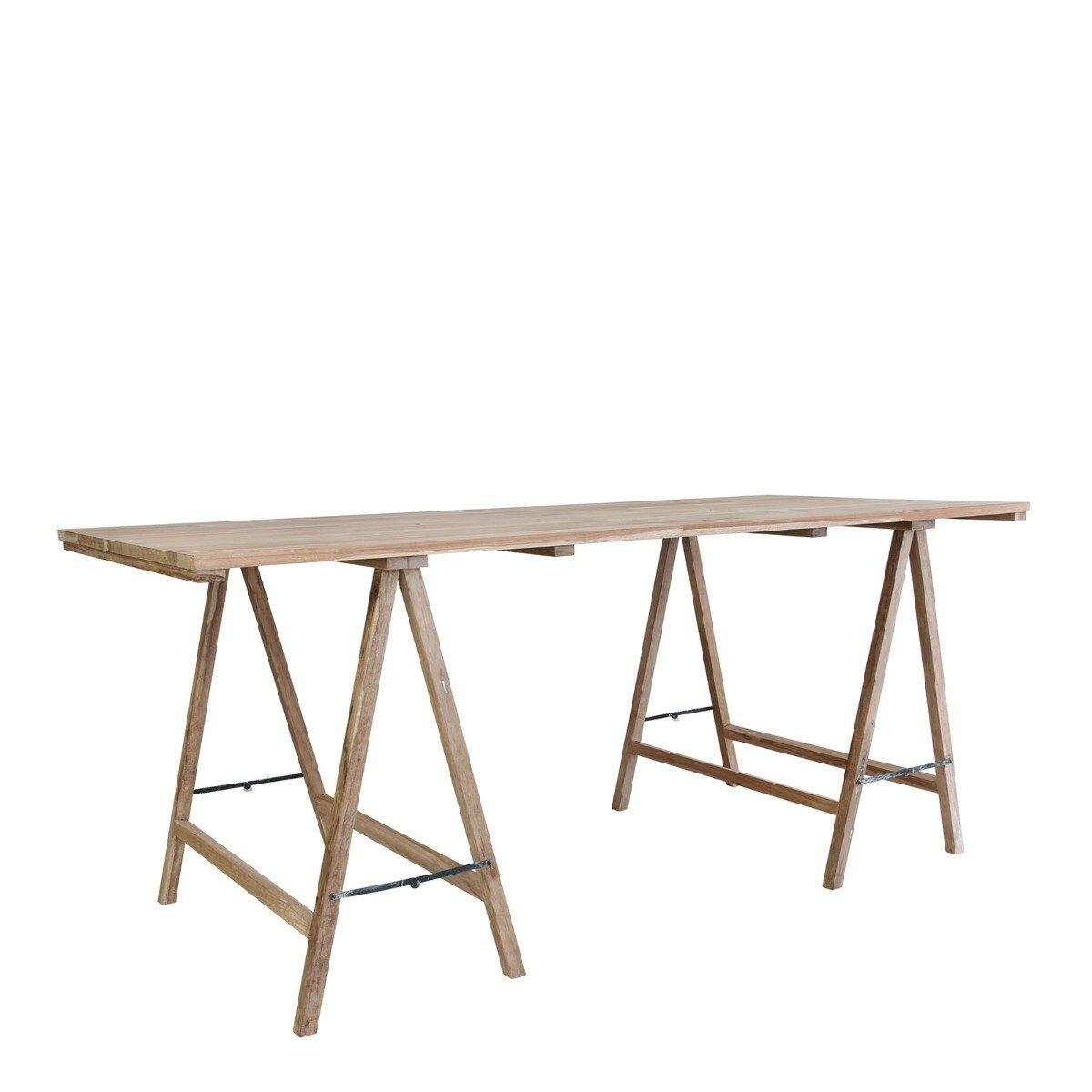 HKliving tafel teak hout 76 x 180 x 80