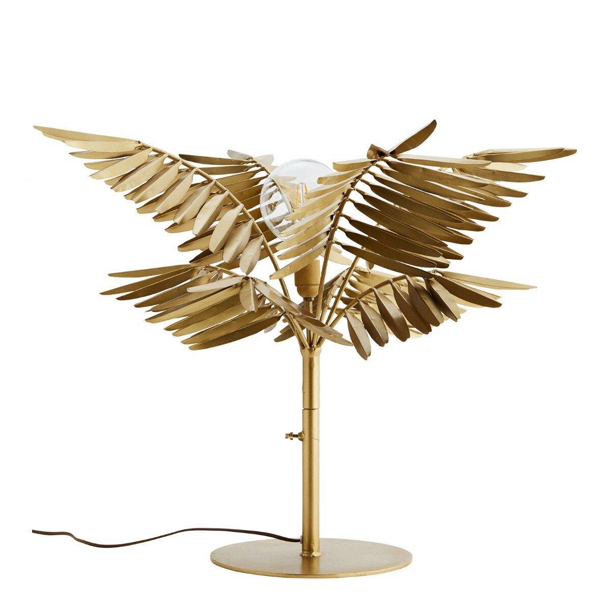 Madam Stoltz tafellamp met bladeren ijzer brass 60 x �60