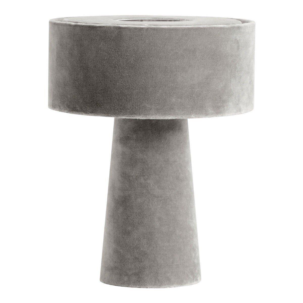Nordal Tafellamp Mushroom velvet grijs 31 x � 25