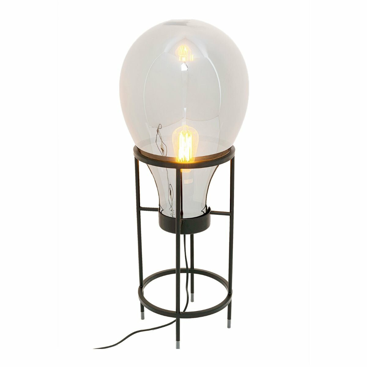 Kare Design tafellamp pear frame zwart 78 x 30 x 30