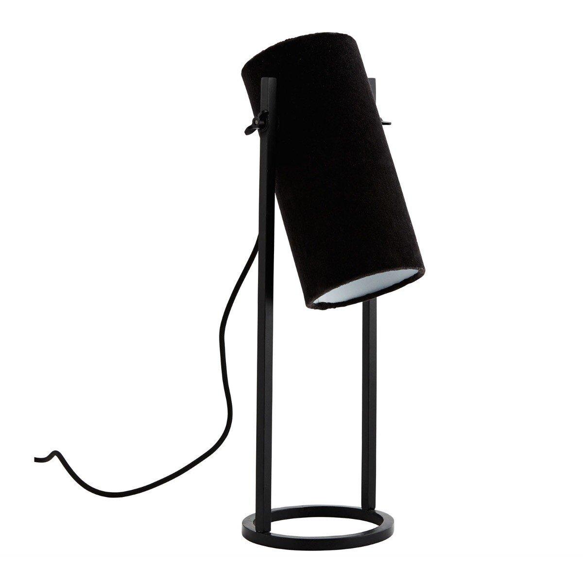 Madam Stoltz tafellamp velvet zwart 50 x 25 x 15