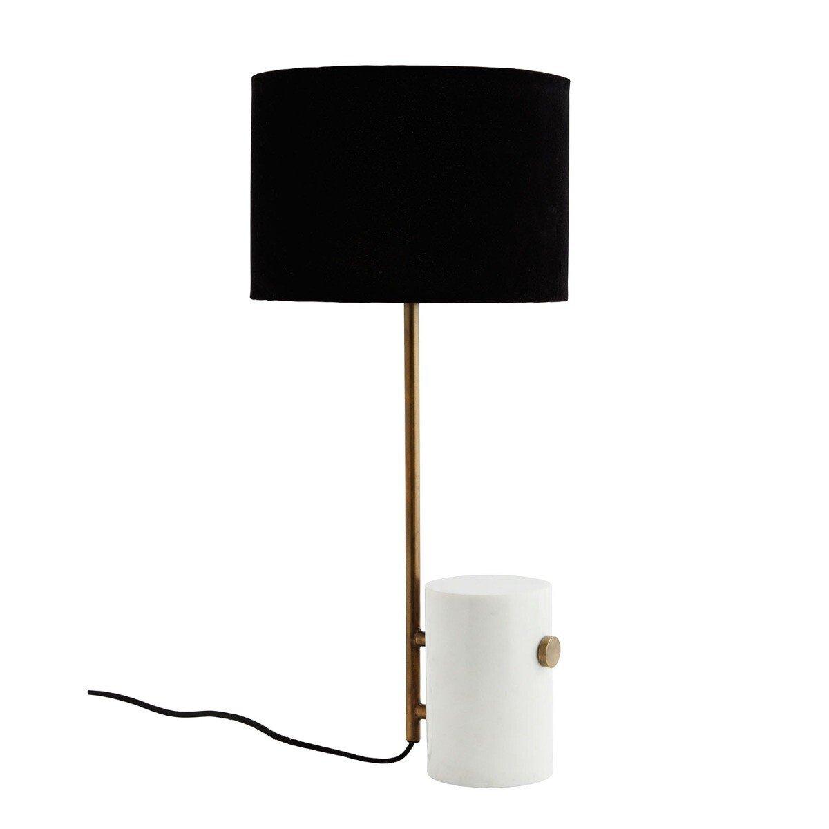 Madam Stoltz tafellamp zwart/brass 57 x � 25