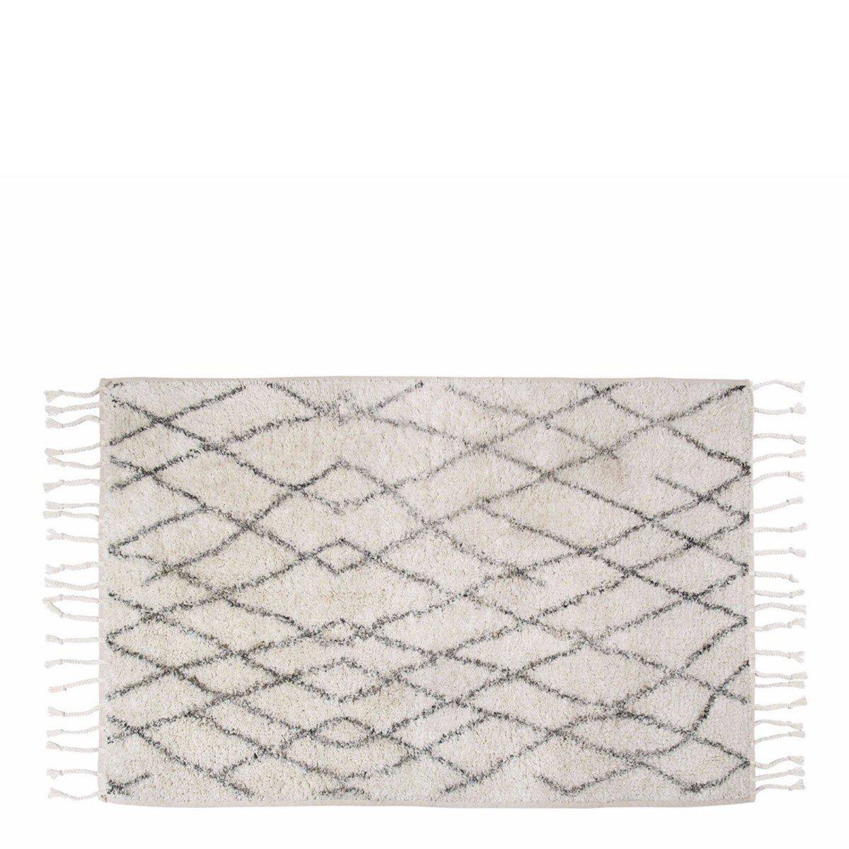 Hkliving Badmat Zwart-Wit 90 cm