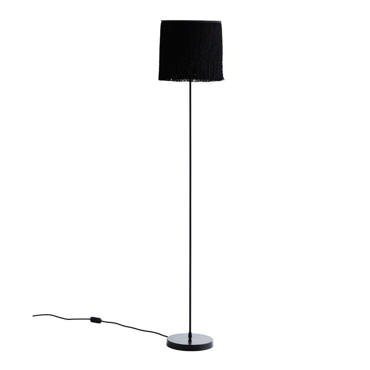 Madam Stoltz vloerlamp kwasten zwart 141 x � 25