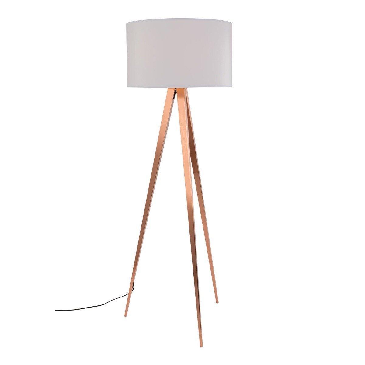 Zuiver vloerlamp Tripod naturel/koper 157 x � 50