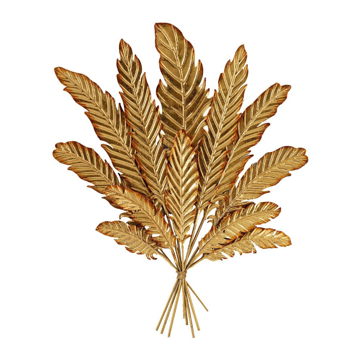 Kare Design wanddecoratie leaf bouquet goud 78,5 x 61 x 4,5