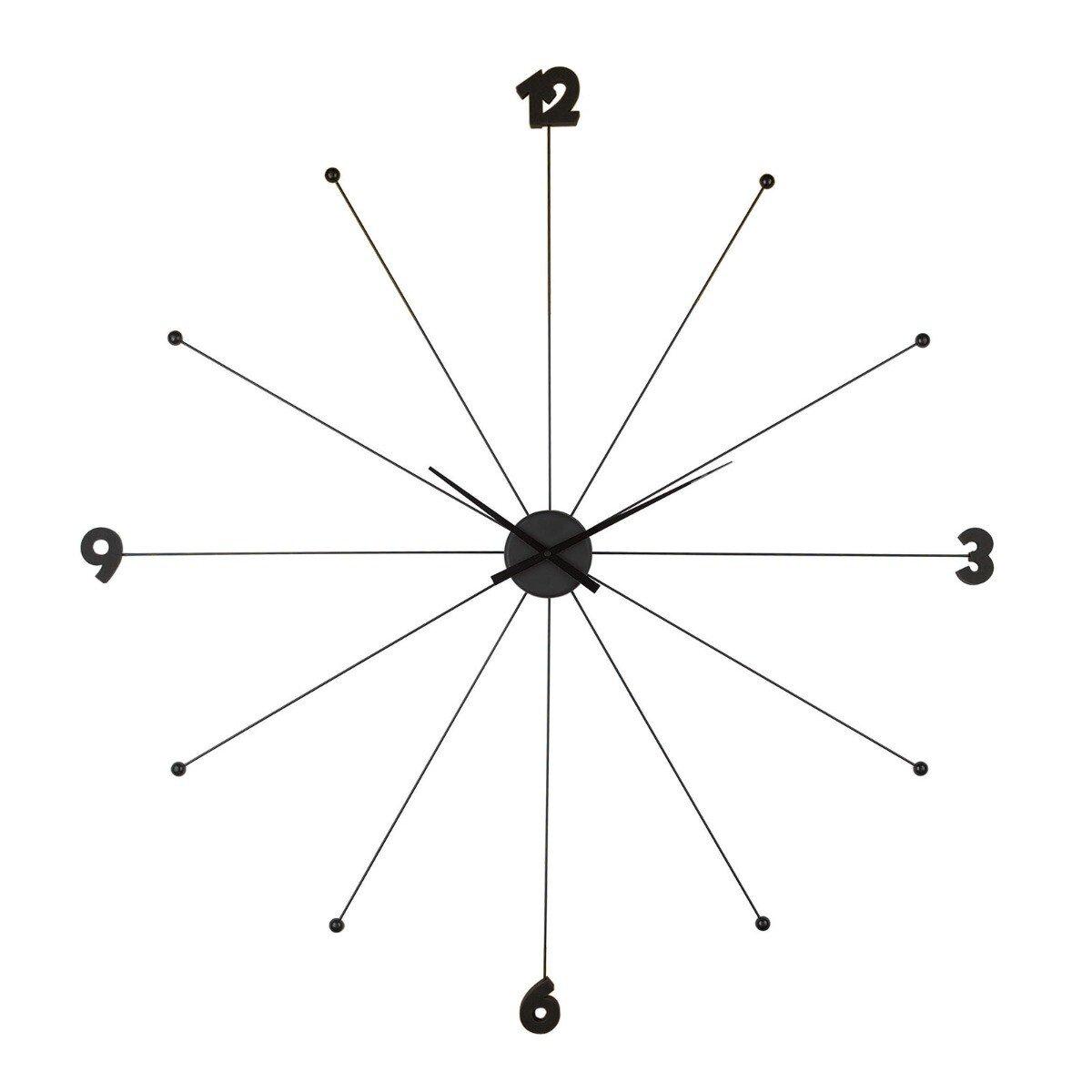 Kare Design wandklok like umbrella zwart 100 x 100 x 6