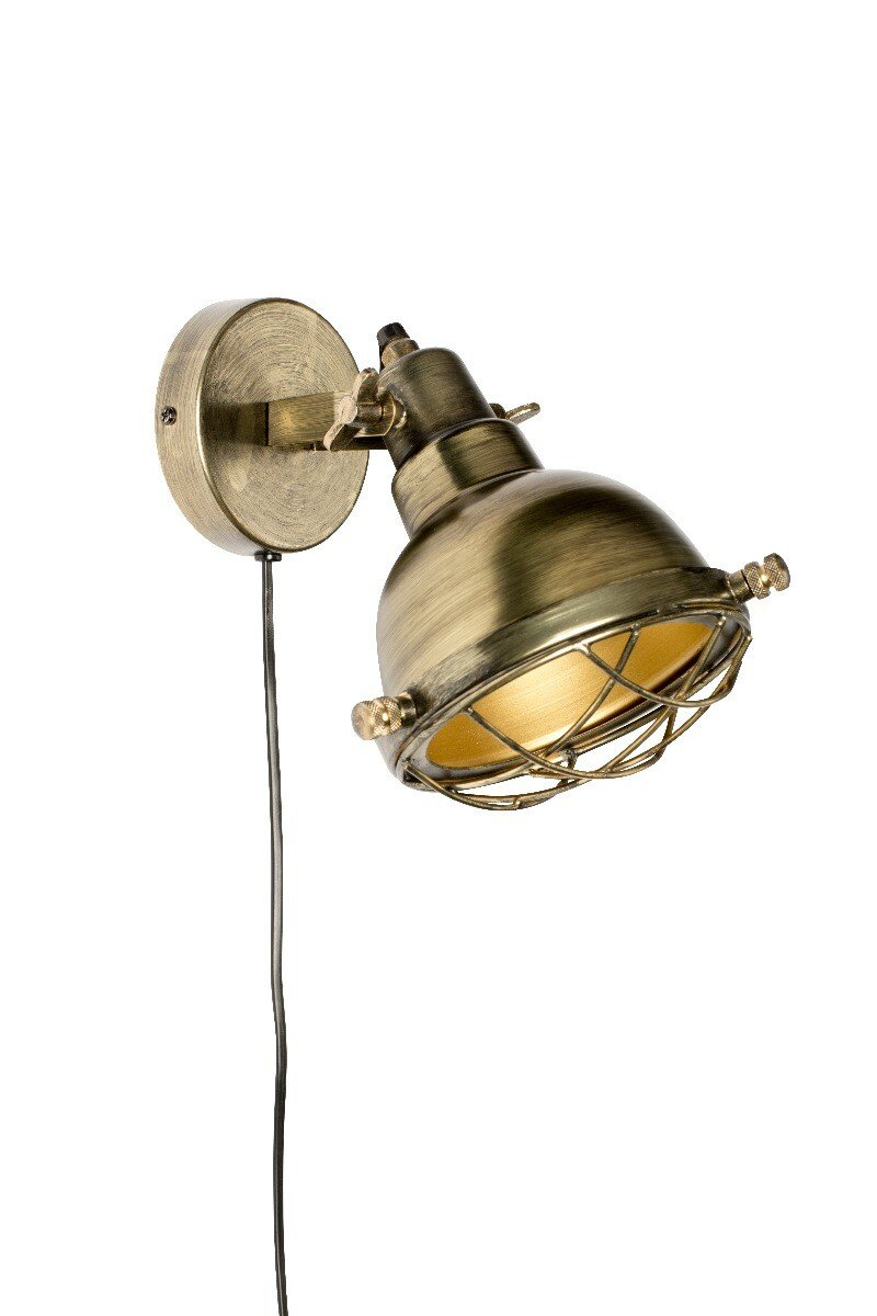 Wants&Needs wandlamp Evan brass 24 x 21 x 25