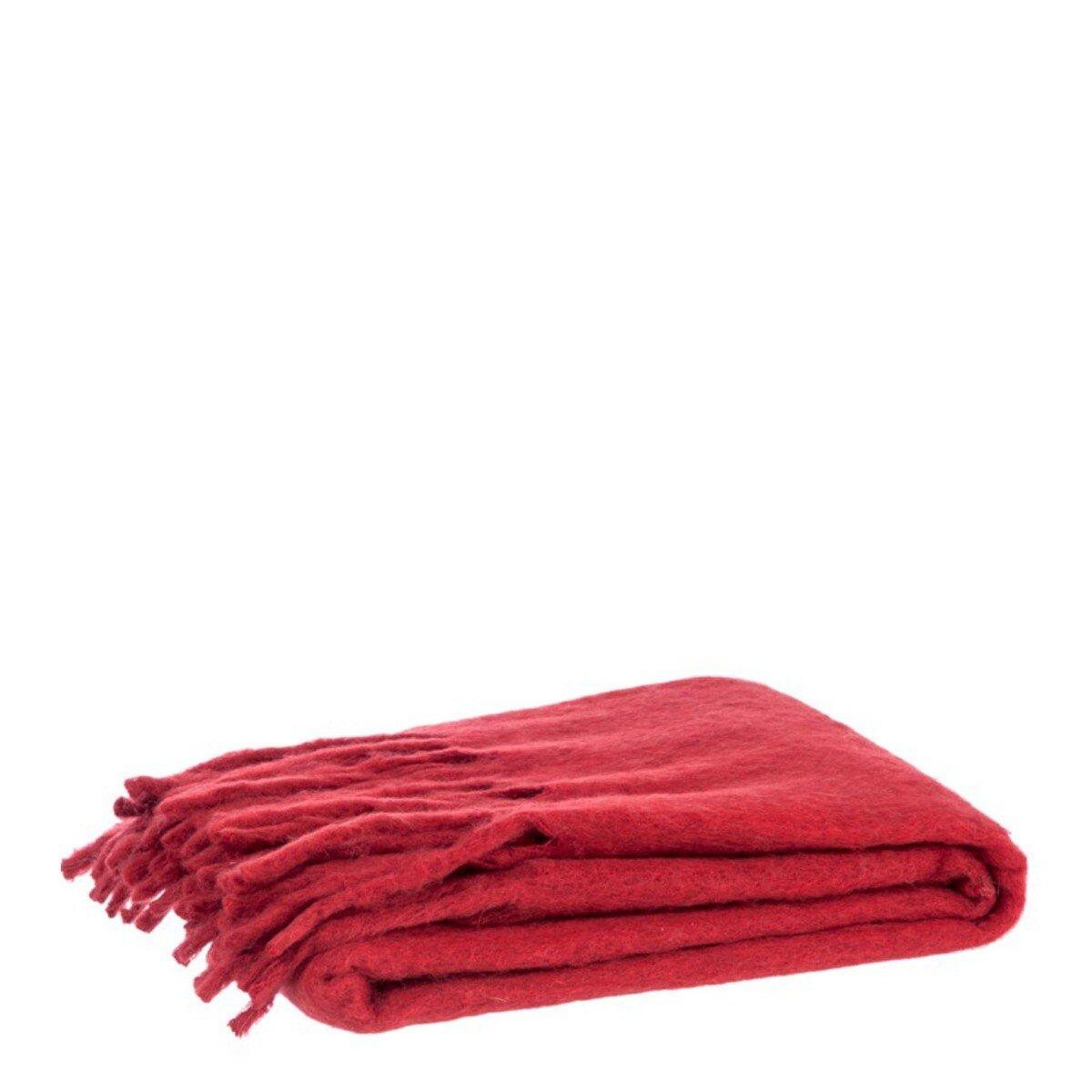 J-Line plaid wool rood 150 x 125